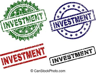 Grunge Textured INVESTMENT Seal Stamps