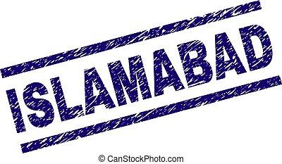Grunge Textured ISLAMABAD Stamp Seal - ISLAMABAD seal print...