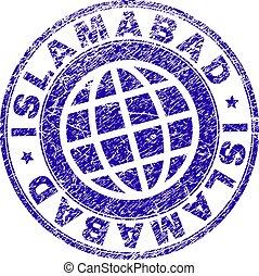 Grunge Textured ISLAMABAD Stamp Seal - ISLAMABAD stamp...