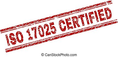 Grunge Textured ISO 17025 CERTIFIED Stamp Seal