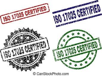 Grunge Textured ISO 17025 CERTIFIED Stamp Seals