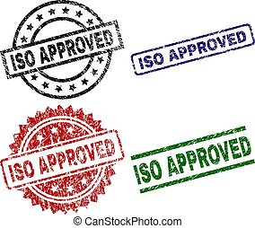 Grunge Textured ISO APPROVED Seal Stamps