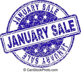 Grunge Textured JANUARY SALE Stamp Seal