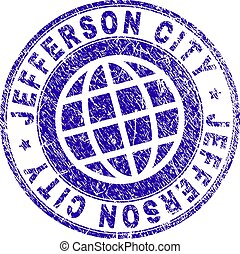 Grunge Textured JEFFERSON CITY Stamp Seal - JEFFERSON CITY...