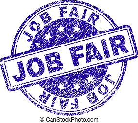 Grunge Textured JOB FAIR Stamp Seal