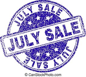 Grunge Textured JULY SALE Stamp Seal