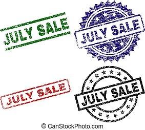 Grunge Textured JULY SALE Stamp Seals