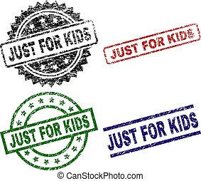 Grunge Textured JUST FOR KIDS Stamp Seals