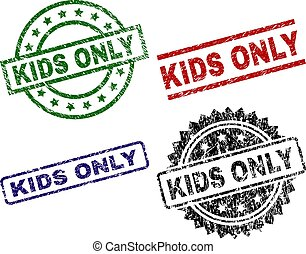 Grunge Textured KIDS ONLY Stamp Seals