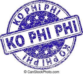 Grunge Textured KO PHI Stamp Seal - KO PHI stamp seal...
