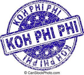 Grunge Textured KOH PHI Stamp Seal - KOH PHI stamp seal...