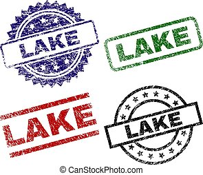 Grunge Textured LAKE Seal Stamps