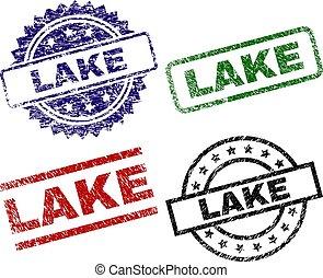 Grunge Textured LAKE Seal Stamps