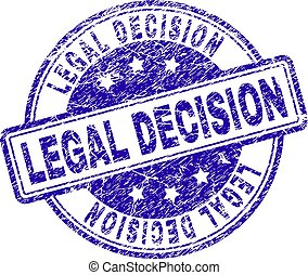 Grunge Textured LEGAL DECISION Stamp Seal
