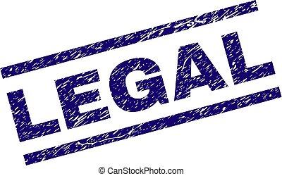 Grunge Textured LEGAL Stamp Seal