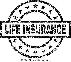 Grunge Textured LIFE INSURANCE Stamp Seal