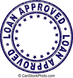 Grunge Textured LOAN APPROVED Round Stamp Seal