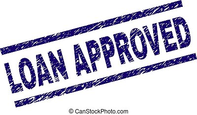 Grunge Textured LOAN APPROVED Stamp Seal
