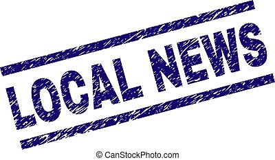 Grunge Textured LOCAL NEWS Stamp Seal