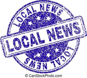 Grunge Textured LOCAL NEWS Stamp Seal