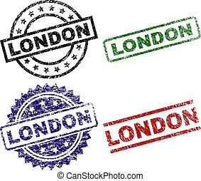 Grunge Textured LONDON Stamp Seals