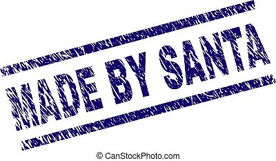 Grunge Textured MADE BY SANTA Stamp Seal