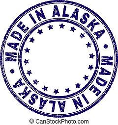 Grunge Textured MADE IN ALASKA Round Stamp Seal