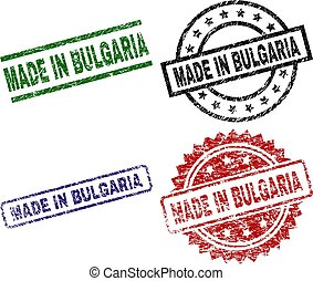 Grunge Textured MADE IN BULGARIA Seal Stamps