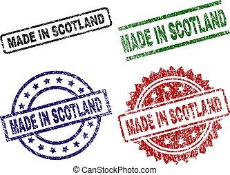 Grunge Textured MADE IN SCOTLAND Stamp Seals