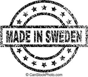 Grunge Textured MADE IN SWEDEN Stamp Seal