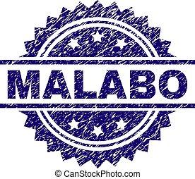 Grunge Textured MALABO Stamp Seal