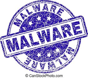 Grunge Textured MALWARE Stamp Seal