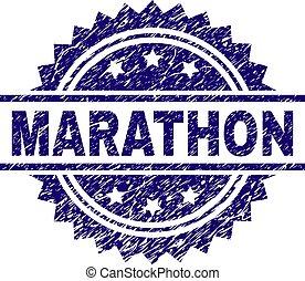 Grunge Textured MARATHON Stamp Seal