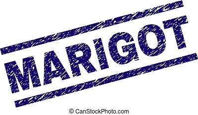 Grunge Textured MARIGOT Stamp Seal