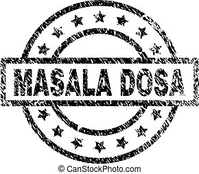 Grunge Textured MASALA DOSA Stamp Seal