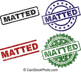 Grunge Textured MATTED Seal Stamps
