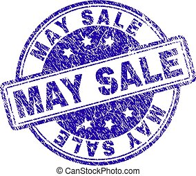 Grunge Textured MAY SALE Stamp Seal
