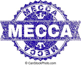 Grunge Textured MECCA Stamp Seal with Ribbon