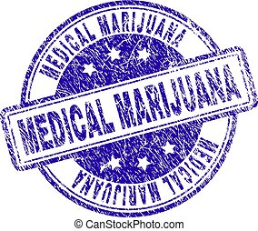 Grunge Textured MEDICAL MARIJUANA Stamp Seal