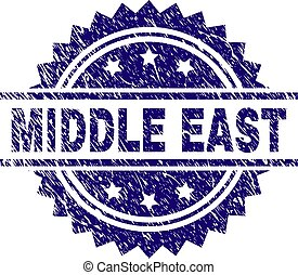 Grunge Textured MIDDLE EAST Stamp Seal
