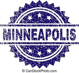Grunge Textured MINNEAPOLIS Stamp Seal - MINNEAPOLIS stamp...