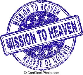 Grunge Textured MISSION TO HEAVEN Stamp Seal