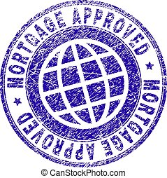 Grunge Textured MORTGAGE APPROVED Stamp Seal