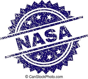 Grunge Textured NASA Stamp Seal