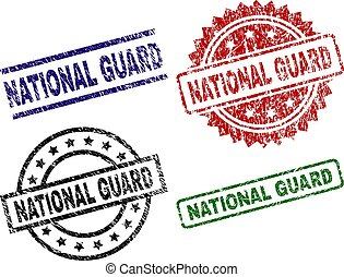 Grunge Textured NATIONAL GUARD Seal Stamps - NATIONAL GUARD...