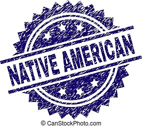 Grunge Textured NATIVE AMERICAN Stamp Seal