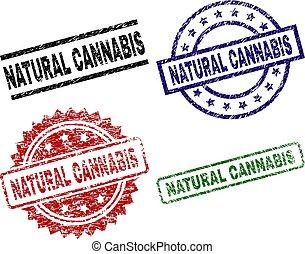 Grunge Textured NATURAL CANNABIS Stamp Seals