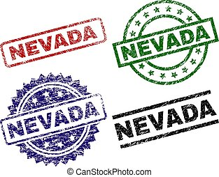 Grunge Textured NEVADA Seal Stamps