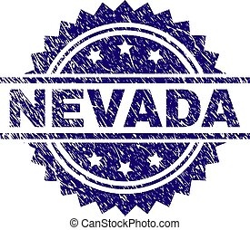 Grunge Textured NEVADA Stamp Seal