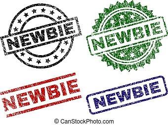 Grunge Textured NEWBIE Stamp Seals